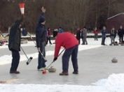 Curling on Lake of Menteith
